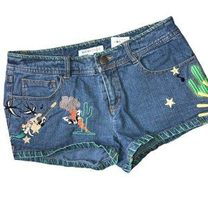 See by Chloe Embroidered Jean Shorts Size 4